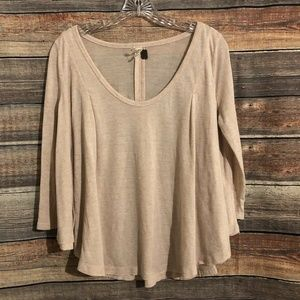 We the free scoop heather relaxed top